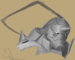 Old Alphonse Elric Painting by Tokratan
