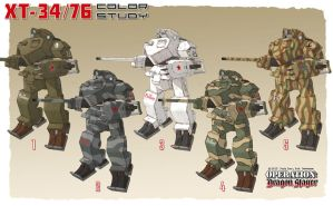 Soviet Mech color study by Rob-Cavanna