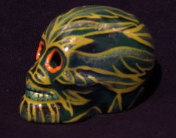 2 inch Dia Del Les Muertos Skull for James Garlick by bedowynn