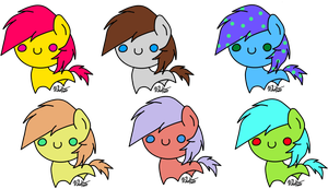 Chibi Pony 10 points adopt OPEN by Lali-the-Bunny