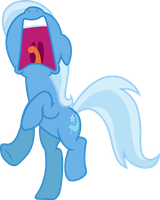 Trixie (Screaming vector) by davidsfire