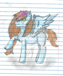 Request for - Blue-Orange-Pegasus by TWIN-FAN