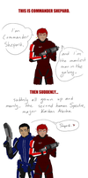 Stealing Shepard's spotlight by limebanana