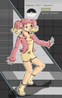 Gijinka Pokemon 531 Audino by saurodinus