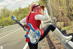 FLCL: Vespa Woman by cafe-lalonde
