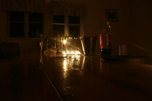 before the yule table by Morneion
