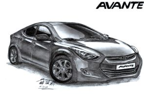 America's Car Of The Year 2012 and 2013 Drawing by toyonda