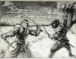 Mongol and Samurai clash by Aranthulas
