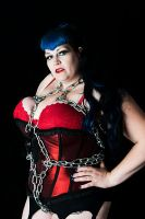 Chained Pinup Girl by fiery-phoenixx
