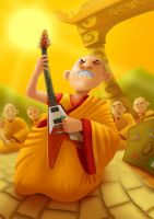 Unbalanced Buddhist by VimislikArt