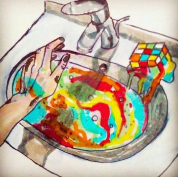washing off the problems I can't slove by Angelina450
