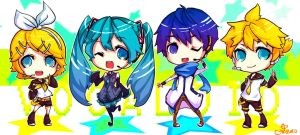 Chibi Set: Vocaloid by RandomRemix