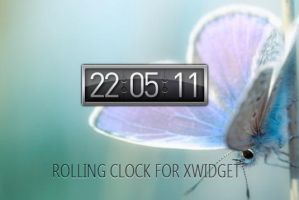 Rolling Clock for XWidget by boyzonet