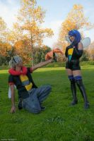 Volbeat and Illumise by Sho-Cosplay