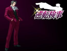 Miles Edgeworth by GinMizu