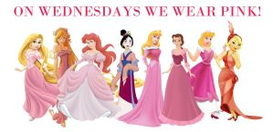 Disney Pink Wednesday by duchessdane