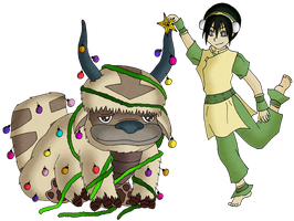 Toph and the Appa tree by pamgomez