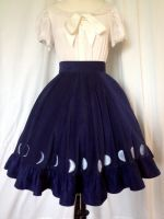Wolf Girl - Moonphase Skirt by thealisabeth