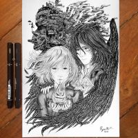 .: Howl's Moving Castle :. by ryancamargos