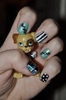 Frankie Stein Nails by BedraggledKitty