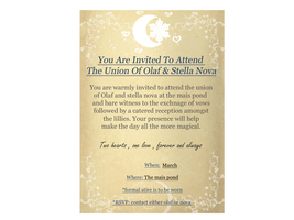 Save the date - olaf and nova wedding invitation by Belle980
