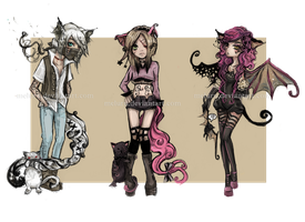 [CLOSED] Stray Cats adoptables by Meluru