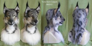 Sorta' Snow Leopard Head Turnaround by Magpieb0nes