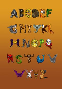 typography_animals by Zamberz