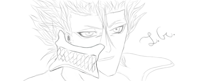 Grimmjow Sketch by LithiumsGallows