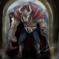 Beauty and the Rider Beast by avallance