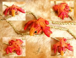 Little red baby dragon by AlviaAlcedo