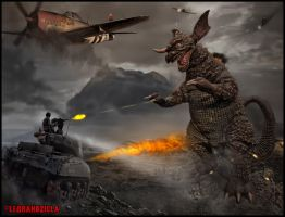 Baragon War by Legrandzilla