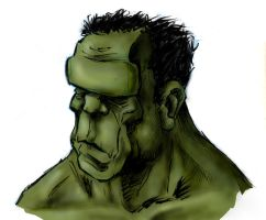 Incredibly Thoughtful Hulk by GriftersArt