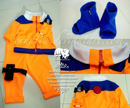 Naruto Costume Set for Baby by oruntia