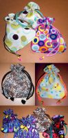 Double Sided Drawstring Bags by 13anana