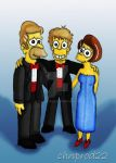 Abe, Mona And Homer by ChnProd22