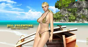 Jill Valentine    CARE FOR A SWIM? by blw7920