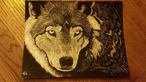 Wolf ScratchBoard by SaberWolf402