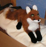 Fox plush by Bladespark