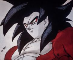 SSJ4 Goku by WatersDBZArt