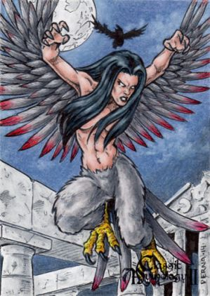 Harpy Sketch Card - Classic Mythology II