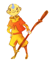 Avatar Aang by Teatime-Rabbit