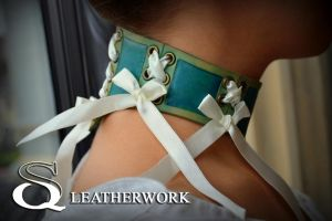 Silent Water Collar by SqLeatherwork