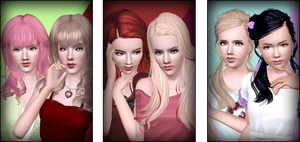 Hair Retexture Requests - Part 1 by D3N1ZFTW