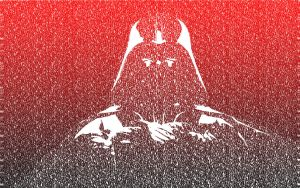 Darth Vader text-portrait by ThisIsGR