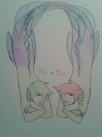 Merman twins: Rin and Yin by handcuffs4ever