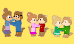 Chipmunks and Chipettes hug by TheChipmunkAlvin