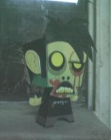 Retrato Zombie Papercraft by Ephedrine86