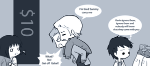 Day 9: Hanging out with friends (Sabriel) by Nile-kun