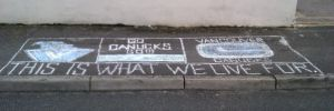 Canucks Sidewalk Chalk by njudge11